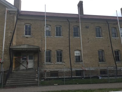 Work on Fort Snelling Building