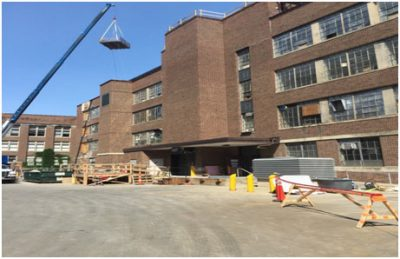 University of Minnesota Mechanical Engineering building repointing terra cotta rollover joint